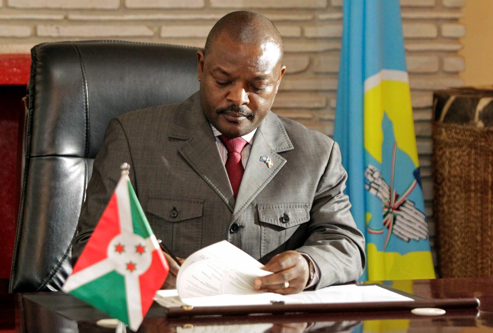 وفاة رئيس بوروندي بنوبة قلبية