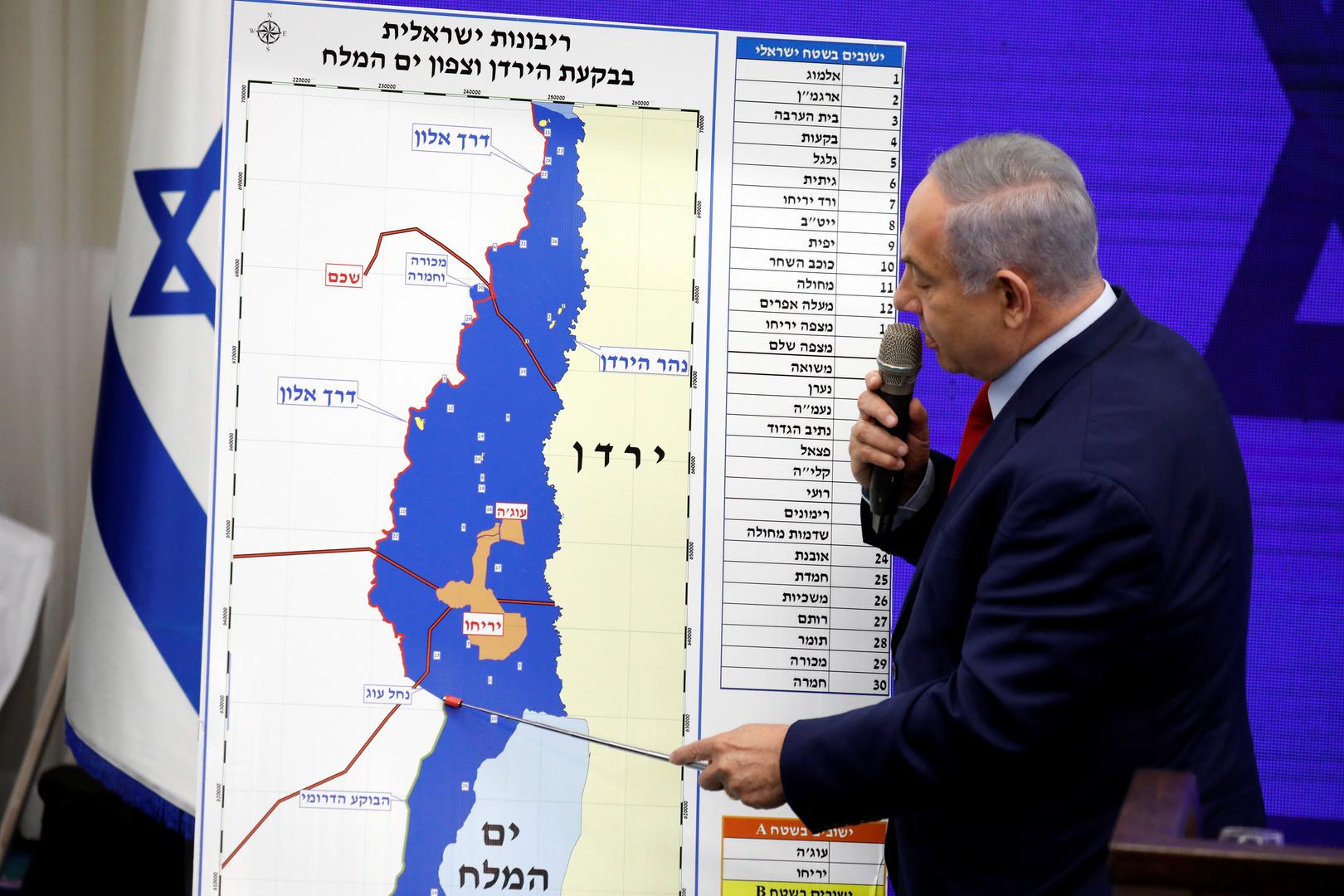 مسؤولون إسرائيليون كبار: عملية الضم الأولية لن تشمل غور الأردن