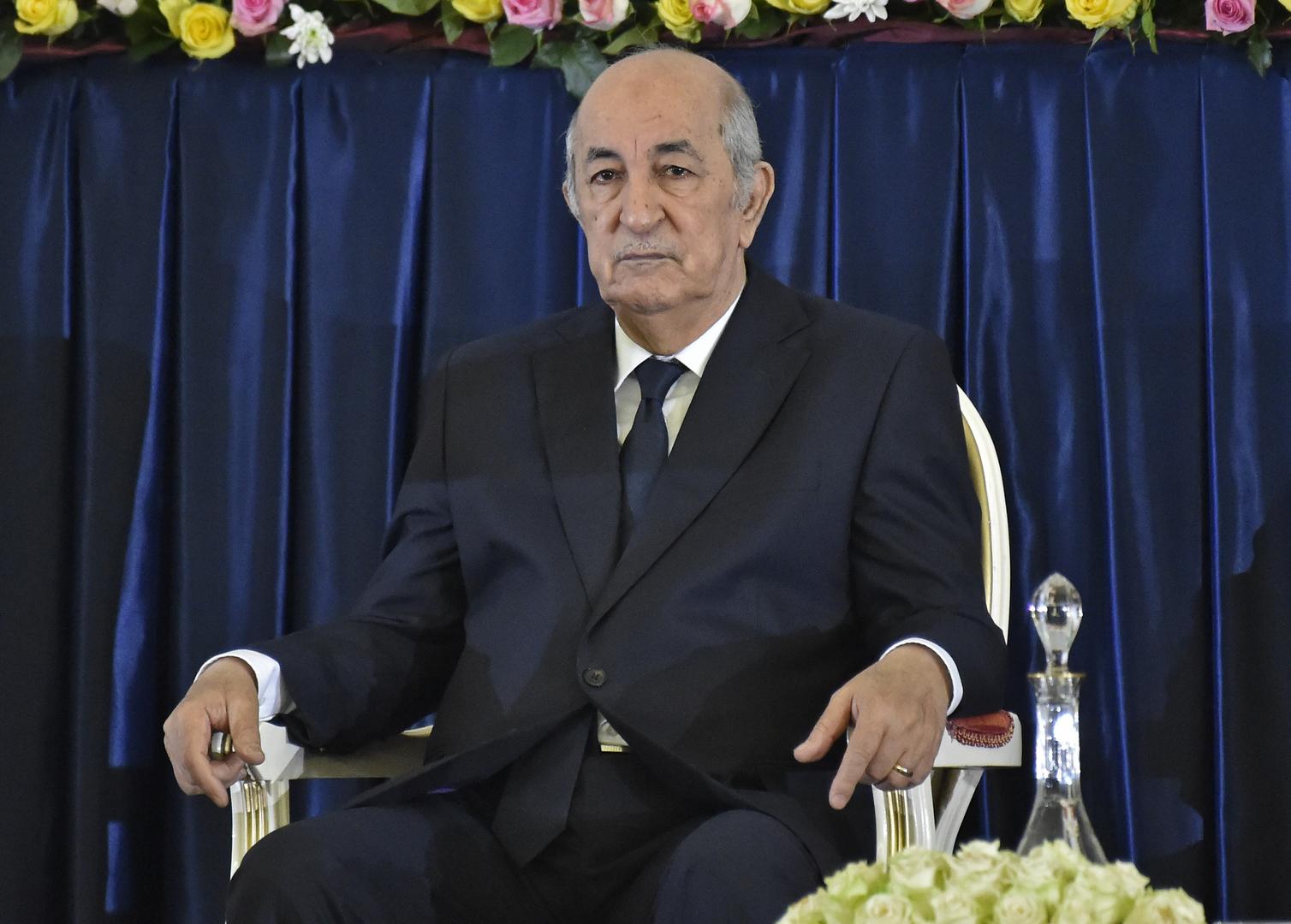 الرئيس الجزائري، عبد المجيد تبون.