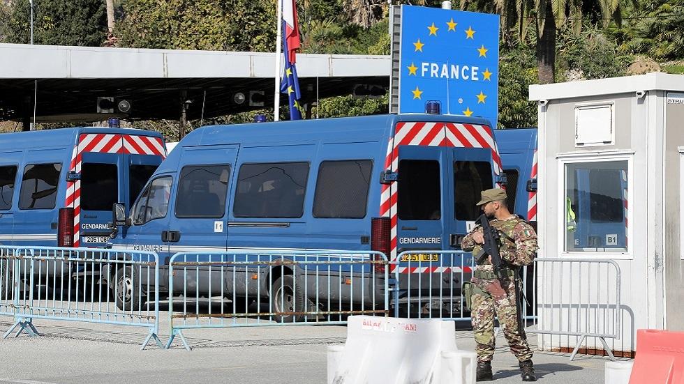 الحدود الفرنسية الإيطالية عند بداية أزمة فيروس كورونا (صورة أرشيفية)