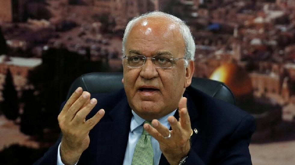 عريقات:الضم الإسرائيلي لأراض فلسطينية محتلة -