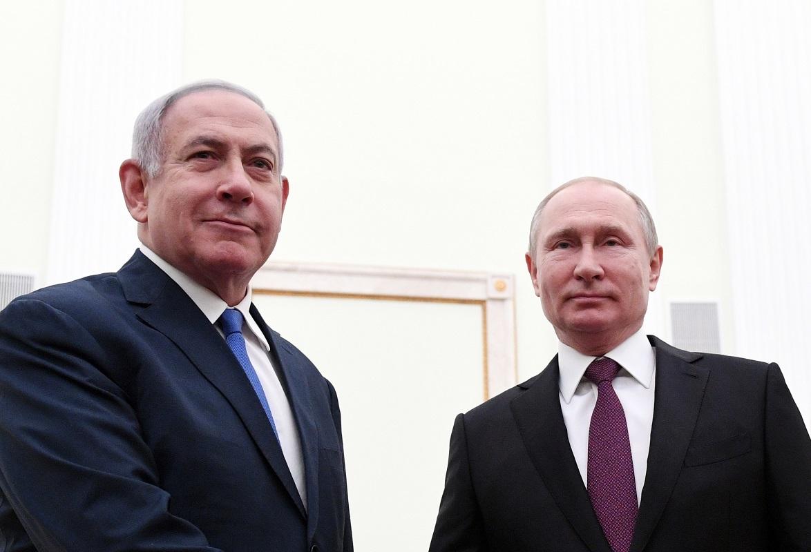 الرئيس الروسي، فلاديمير بوتين، ورئيس وزراء إسرائيل، بنيامين نتنياهو - أرشيف