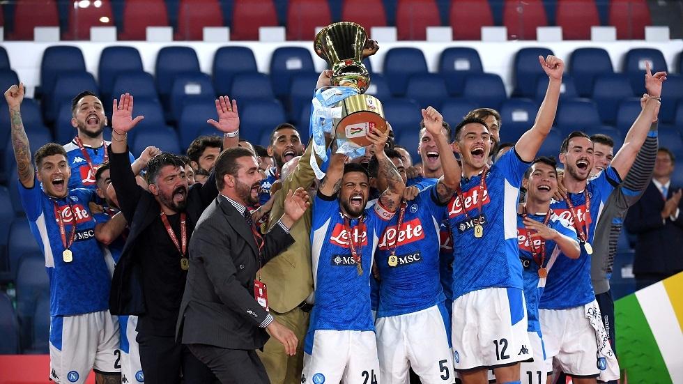 نابولي يطيح بيوفنتوس ويتوج بكأس إيطاليا للمرة السادسة في تاريخه (فيديو)