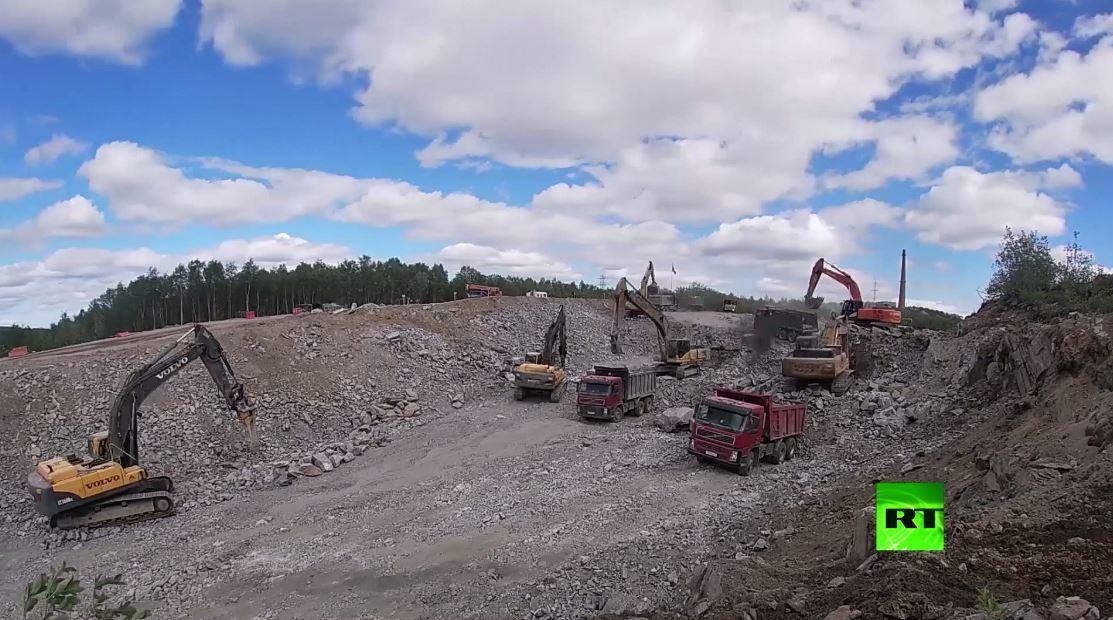 اختتام إعادة بناء سكة الحديد مكان تحطم جسر في مقاطعة مورمانسك