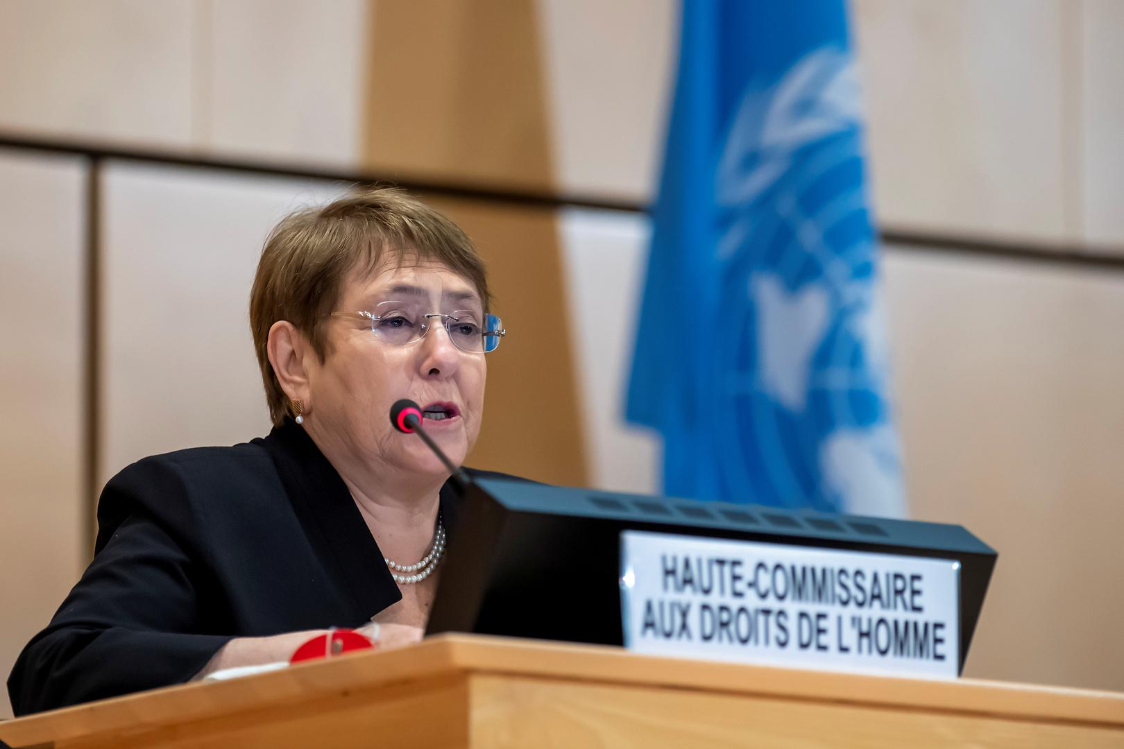 مفوضة الأمم المتحدة لحقوق الإنسان ميشيل باشليت