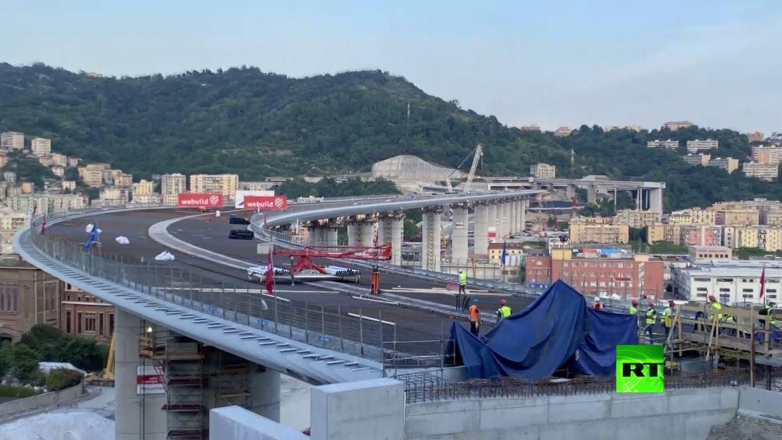 بتقنية التايملابس.. إعادة بناء جسر جنوى المشؤوم