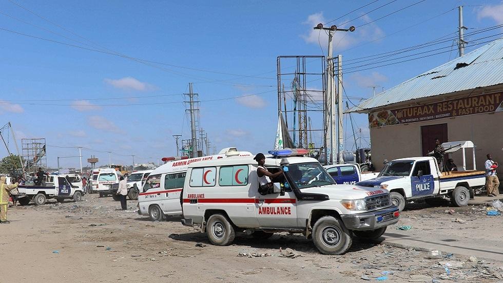 سيارة إسعاف في موقع هجوم بالصومال (صورة أرشيفية)