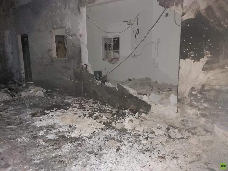 منزل في قرية حلنجة السورية استهدفتها طائرة مسيرة تركية