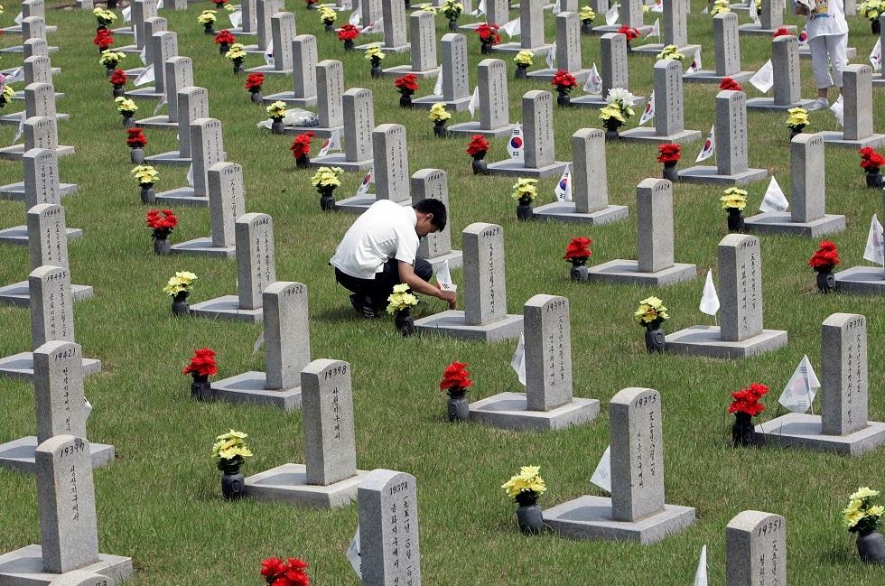 بعد 70 عاما.. عودة رفات 147 جنديا كوريا قتلوا في الحرب الكورية إلى وطنهم