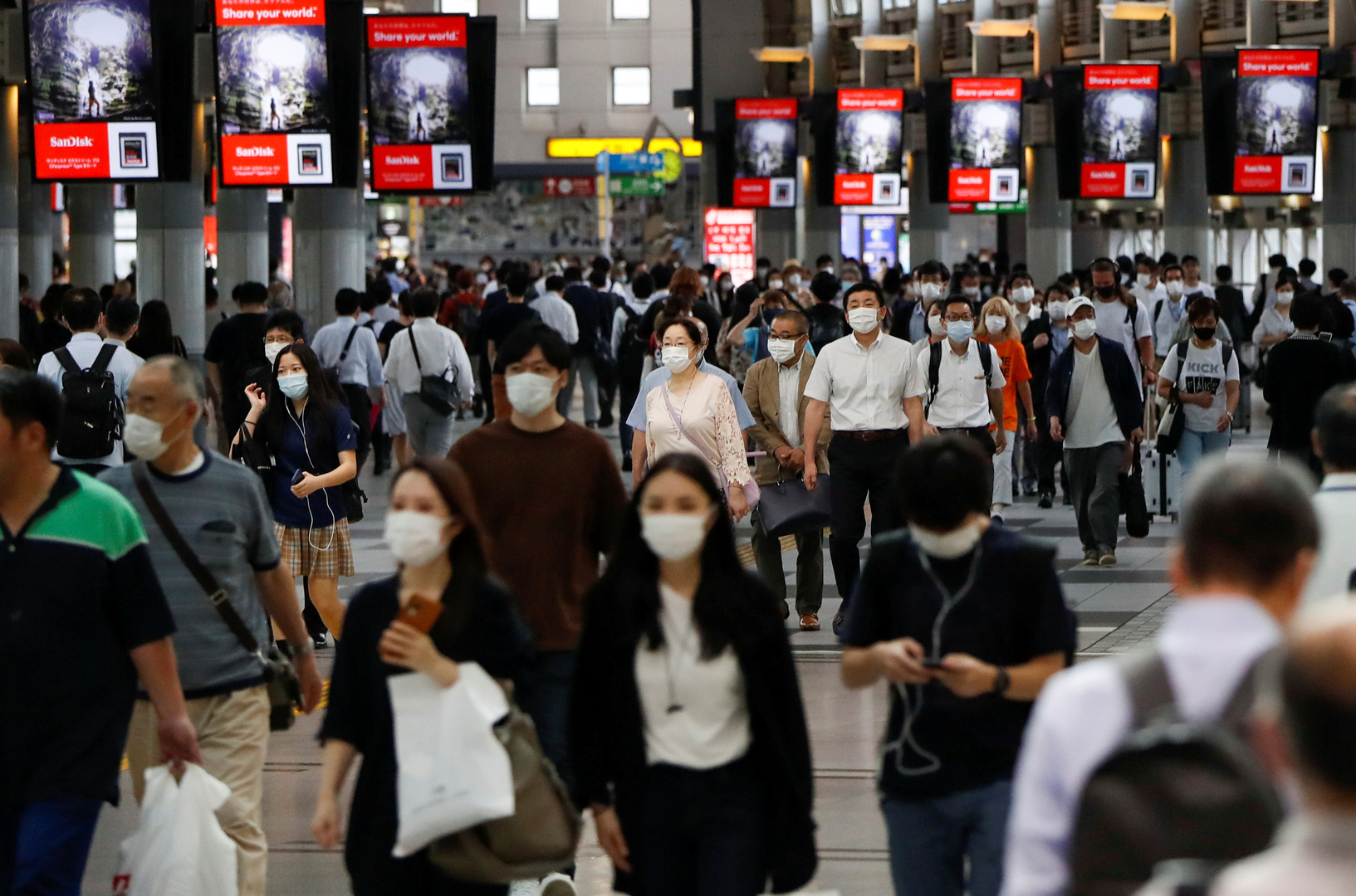 تفشي فيروس كورونا في طوكيو