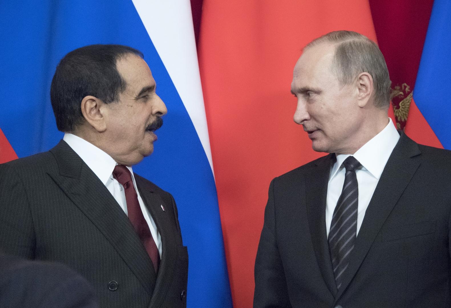 بوتين يتلقى من عاهل البحرين برقية تهنئة بمناسبة عيد النصر