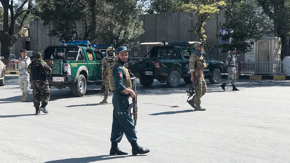 عناصر أمنية أفغانية في موقع انفجار بكابل (صورة أرشيفية)