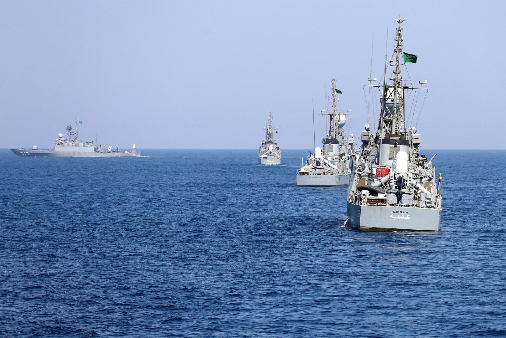 سفن حربية سعودية.