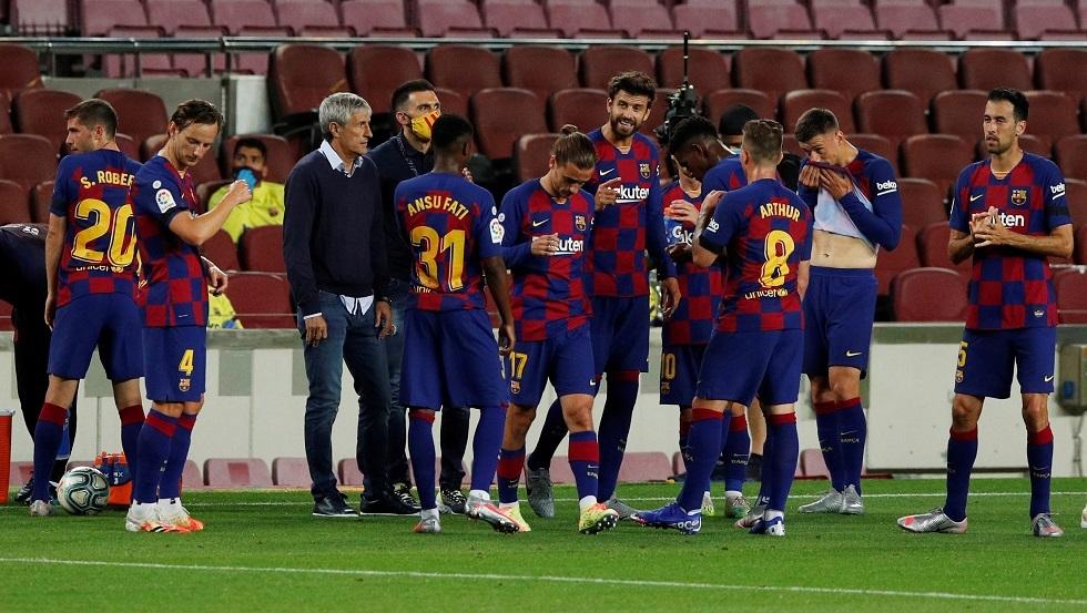 أول تعليق لمدرب برشلونة بعد تعثره أمام فيغو