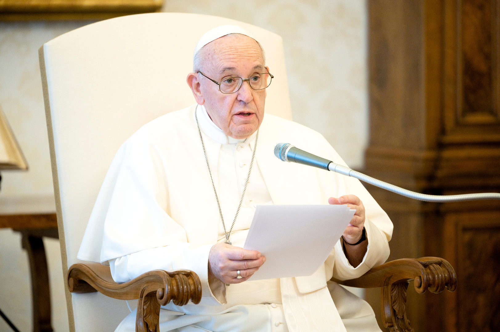 البابا فرنسيس يدعو للصلاة من أجل سوريا واليمن