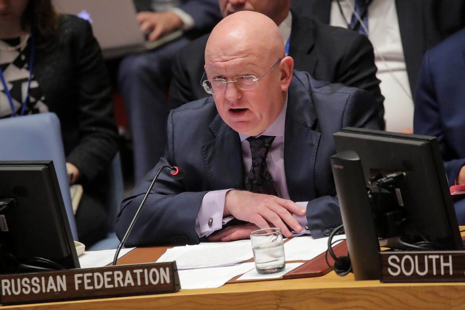 نيبينزيا يؤكد انسحاب روسيا من آلية أممية خاصة بسوريا ويوضح سببه