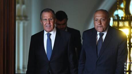 لافروف وشكري يناقشان الأزمة في ليبيا وملف سد النهضة