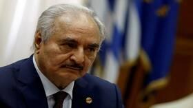 مصادر لـRT: وصول المشير خليفة حفتر للقاهرة لبحث التدخل العسكري التركي في ليبيا