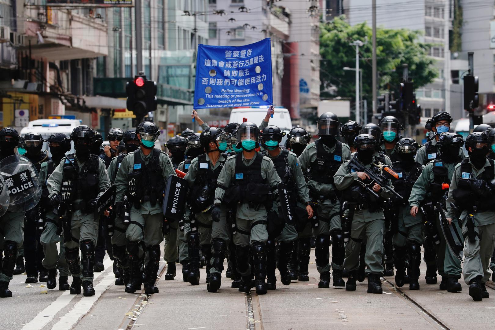 شرطة هونغ كونغ تعتقل عشرات الأشخاص بعد دخول قانون الأمن الصيني حيز التنفيذ