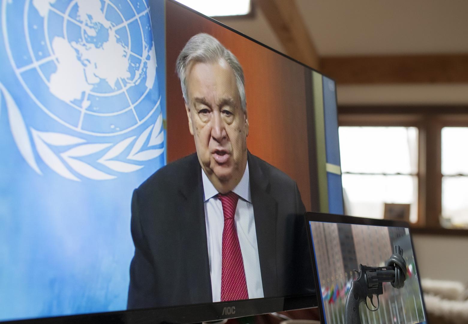 تفاصيل مكالمتين هاتفيتين أجراهما الأمين العام للأمم المتحدة مع السراج وحفتر