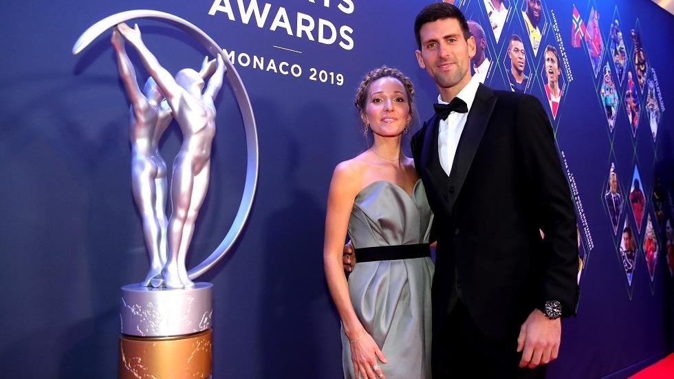دجوكوفيتش وزوجته يشفيان من فيروس كورونا