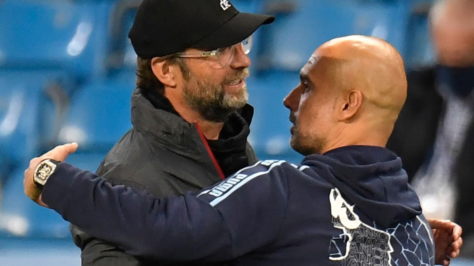 كلوب وغوارديولا يدافعان عن ليفربول بعد الهزيمة برباعية