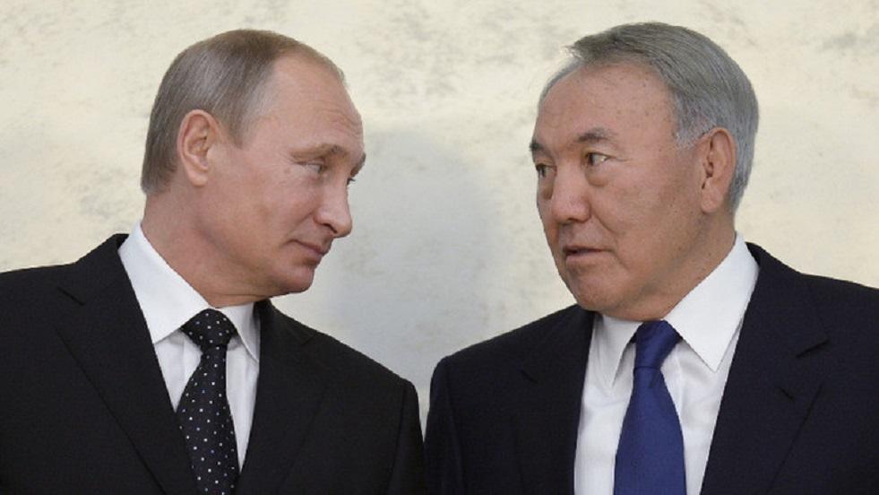 بوتين يهنئ نزارباييف بعيد ميلاده الثمانين