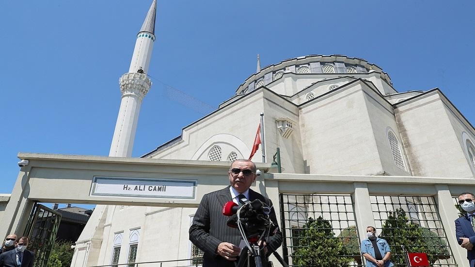 أردوغان يرد على الانتقادات الموجهة لتركيا بصدد آيا صوفيا