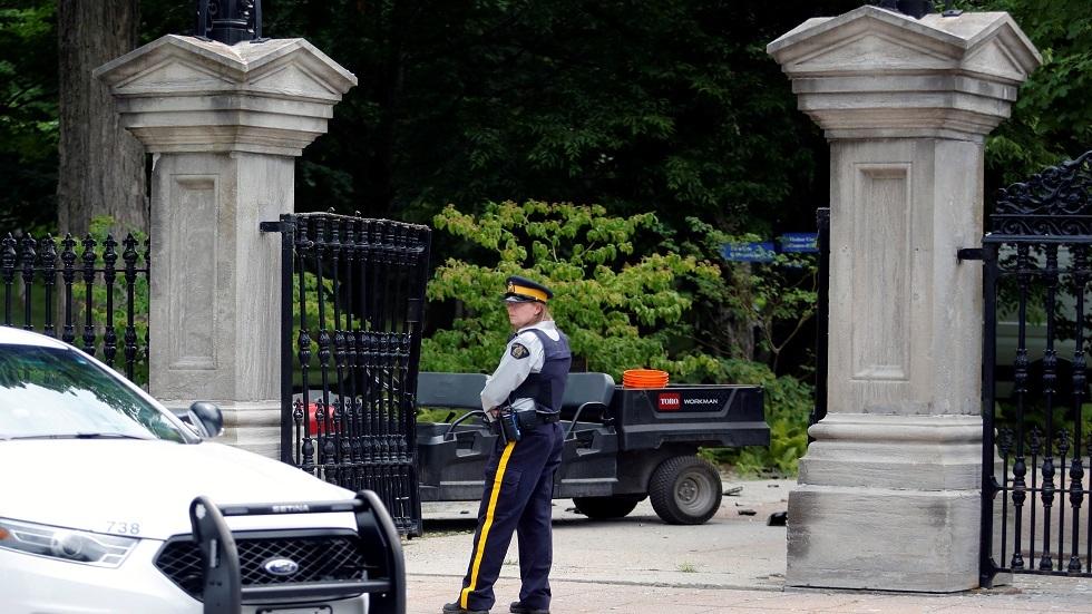 بوابة مقر إقامة رئيس الوزراء الكندي جاستين ترودو