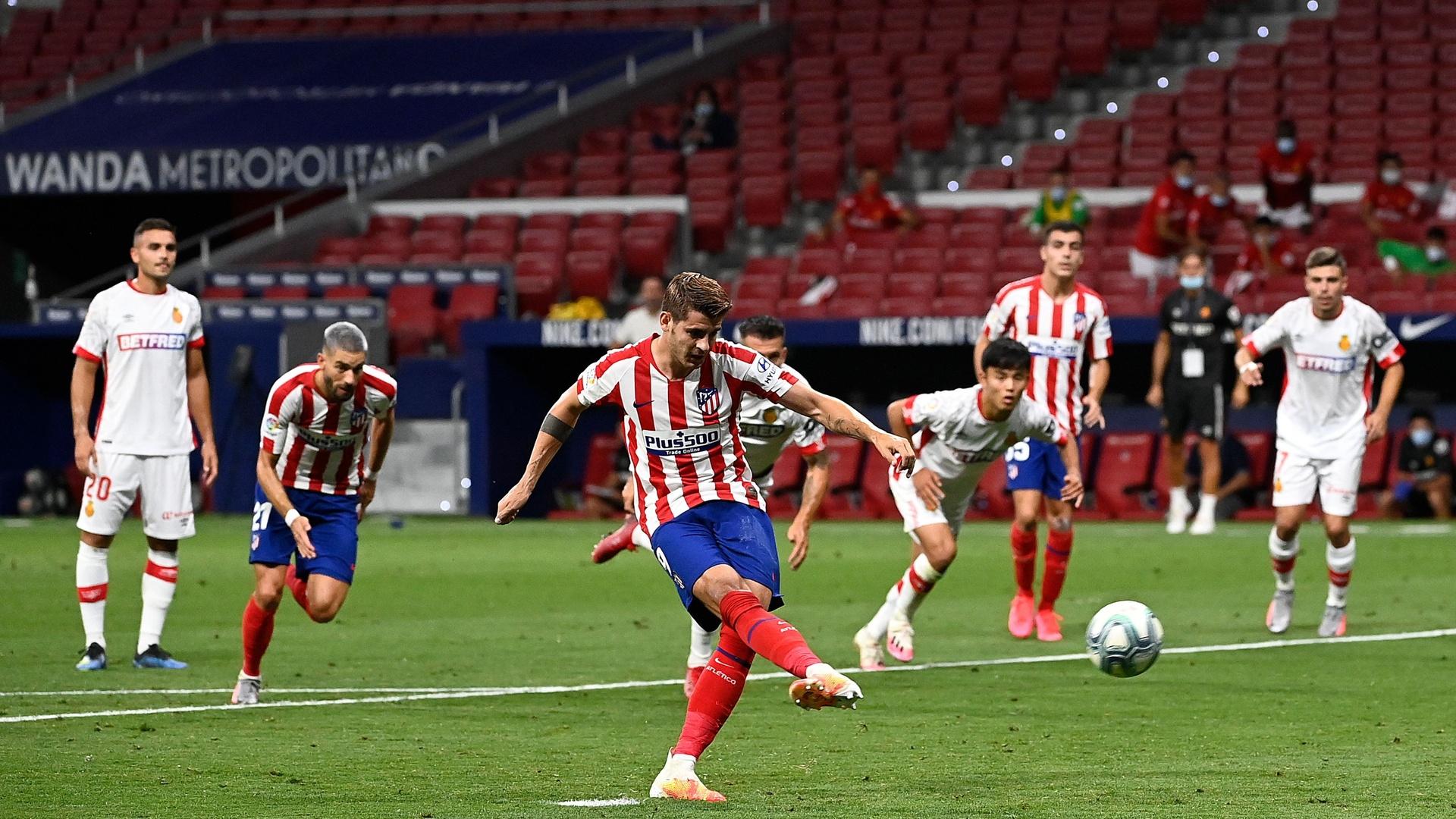 بالفيديو.. موراتا بطل مواجهة أتلتيكو مدريد ومايوركا