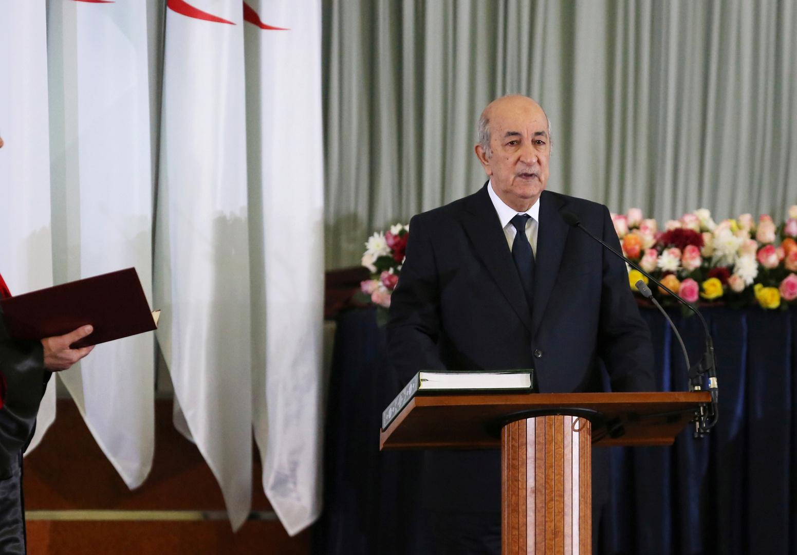 تبون يوضح موقفه من الوضع في ليبيا والعلاقات الجزائرية - المغربية