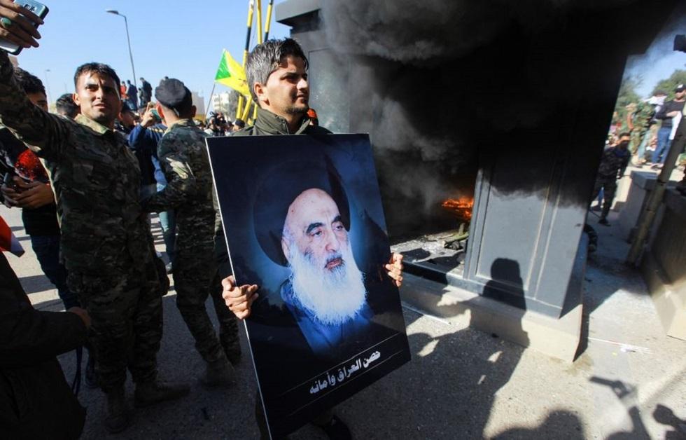 تظاهرات في بغداد بسبب كاريكاتير نشرته صحيفة سعودية
