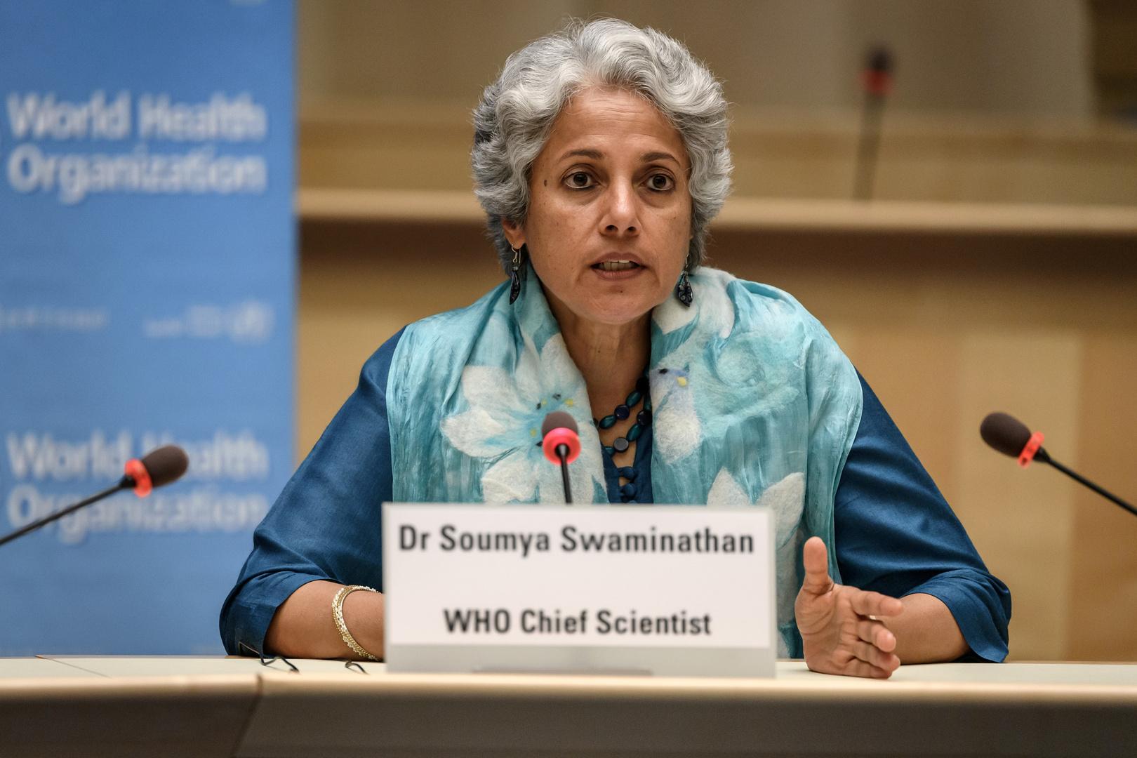 كبيرة الموظفين العلميين في منظمة الصحة العالمية، سوميا سفاميانثان