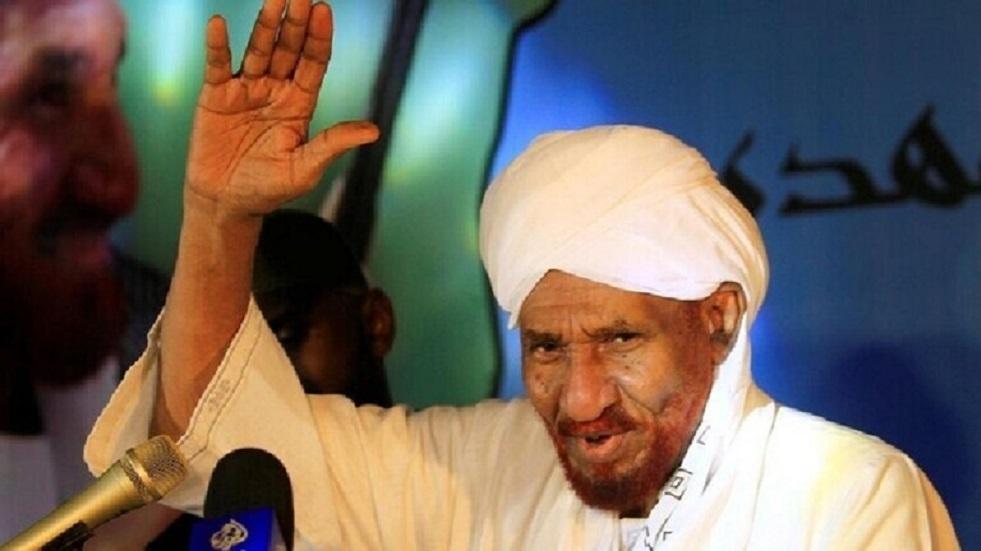 الصادق المهدي زعيم حزب الأمة السوداني