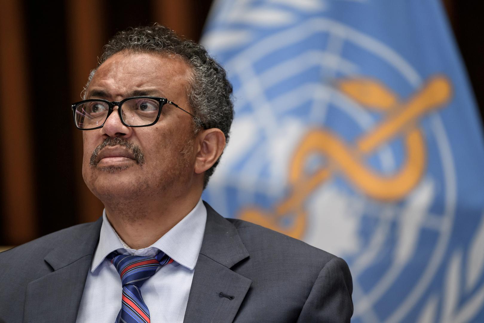المدير العام لمنظمة الصحة العالمية، تیدروس أدهانوم غيبريسوس