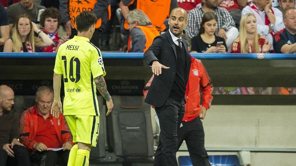غوارديولا يزيد الغموض بشأن مستقبل ميسي مع برشلونة