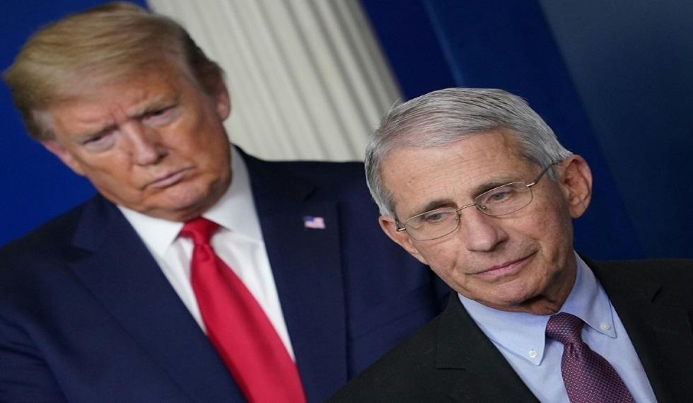 ترامب يجادل كبير خبراء الأوبئة الأمريكيين بشأن خطورة ازدياد تفشي كورونا في البلاد!