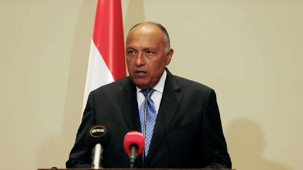 وزير الخارجية المصري: لن نسمح بتهديد أمننا من قبل الميليشيات وندعم حلا سياسيا في ليبيا