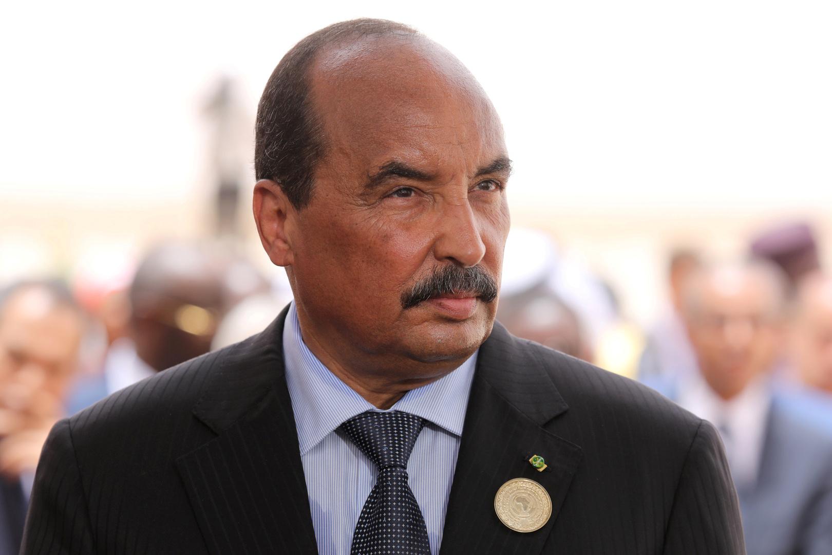 الرئيس الموريتاني السابق، محمد ولد عبد العزيز.