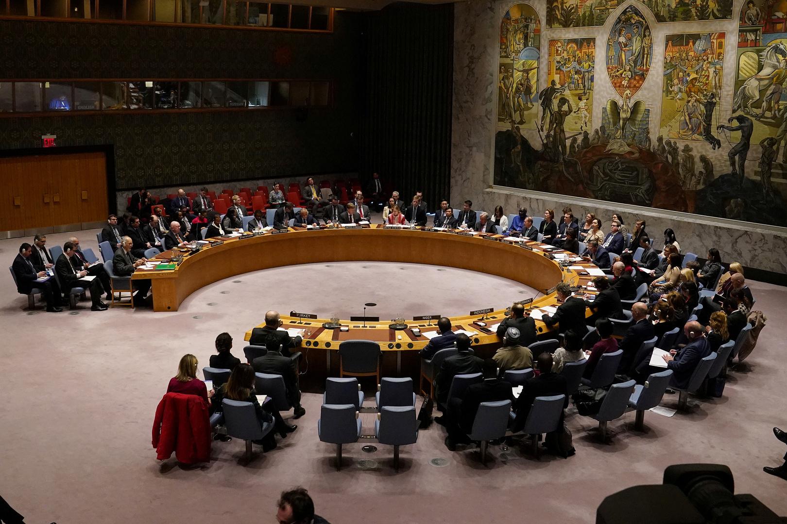 جلسة لمجلس الأمن الدولي حول سوريا.