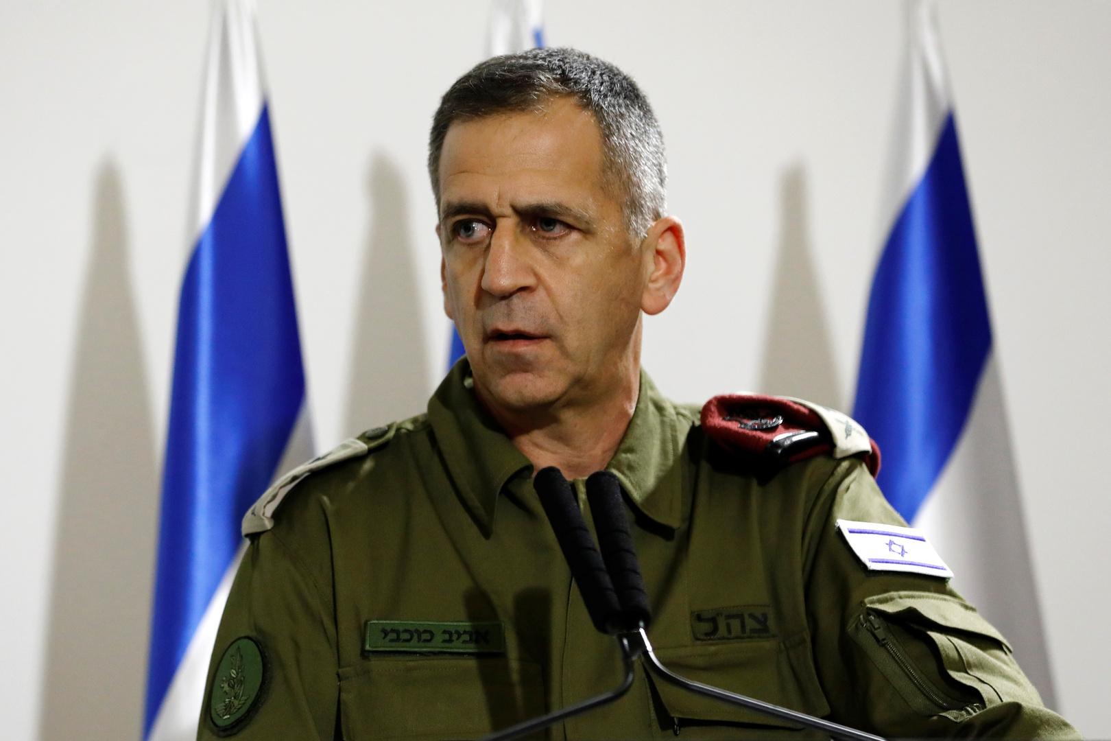 رئيس أركان الجيش الإسرائيلي يتحدث ضرب أهداف