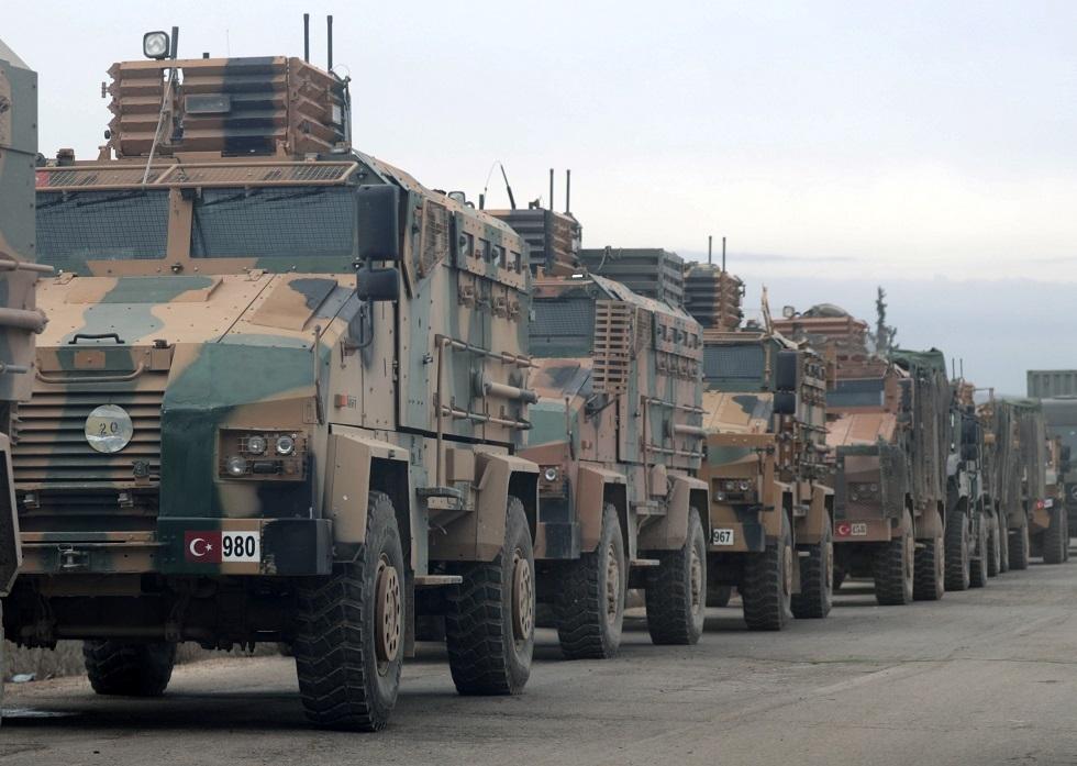 أنباء بدخول 3 أرتال تركية تضم نحو 70 آلية محملة بتعزيزات عسكرية إلى شمال إدلب