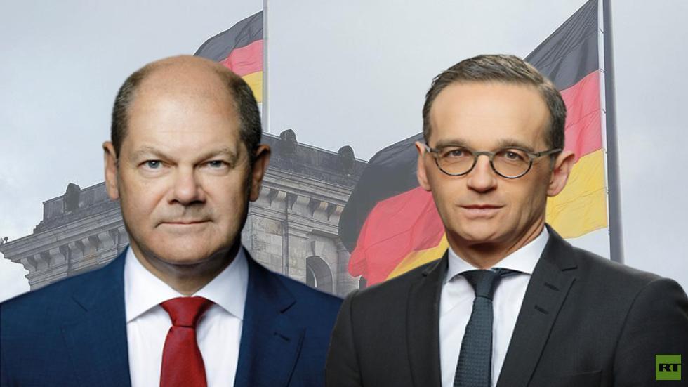 وزيري المالية أولاف شولتز والخارجية هايكو ماس في ألمانيا