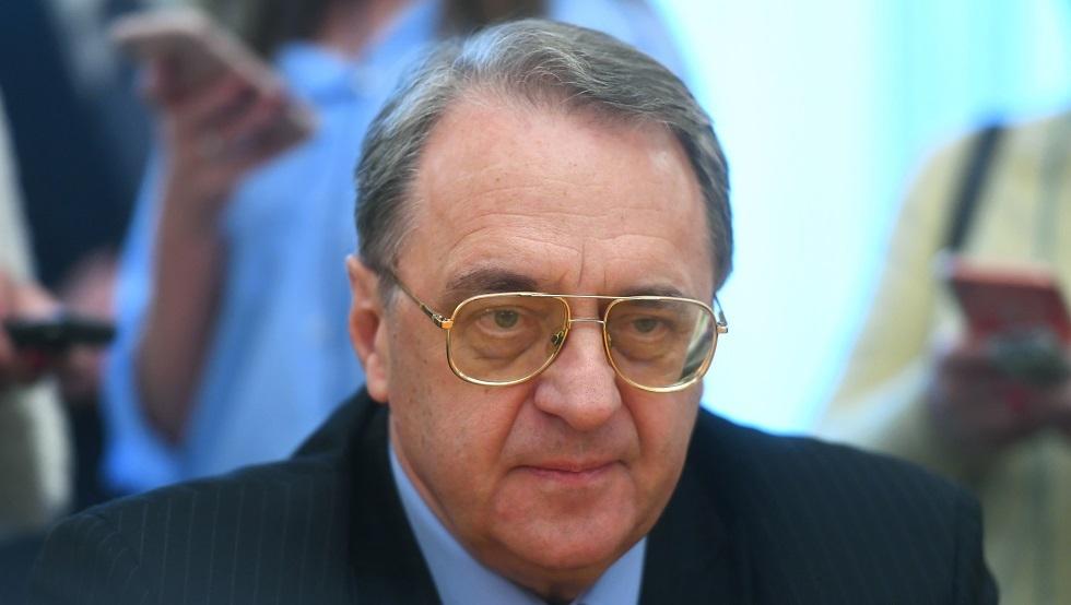 بوغدانوف يبحث القضية الفلسطينية وليبيا مع السفير الإيراني