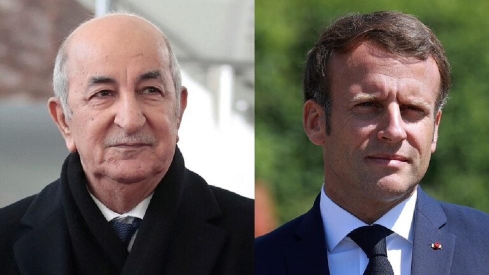 الرئيسان الفرنسي إيمانويل ماكرون والجزائري عبد المجيد تبون