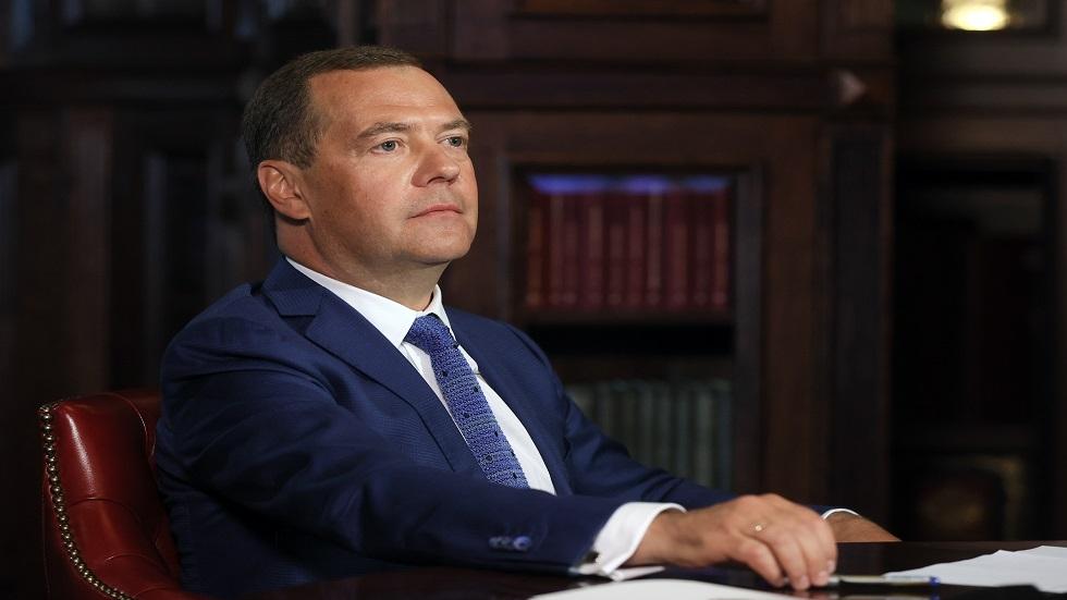 نائب رئيس مجلس الأمن القومي الروسي دميتري مدفيديف