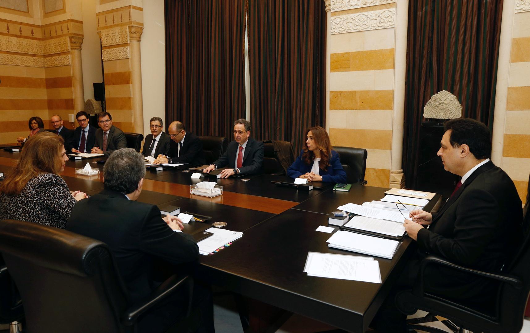 دياب يجتمع مع وفد من صندوق النقد الدولي في شهر فبراير