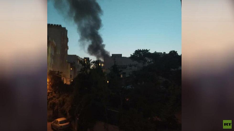 انفجار المركز الطبي في طهران 30 يونيو