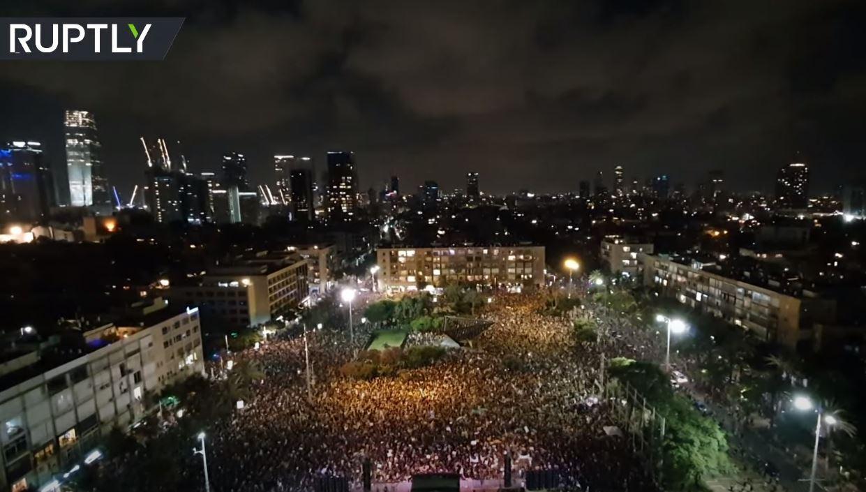 الآلاف يحتجون ضد سياسة حكومة نتنياهو في زمن كورونا