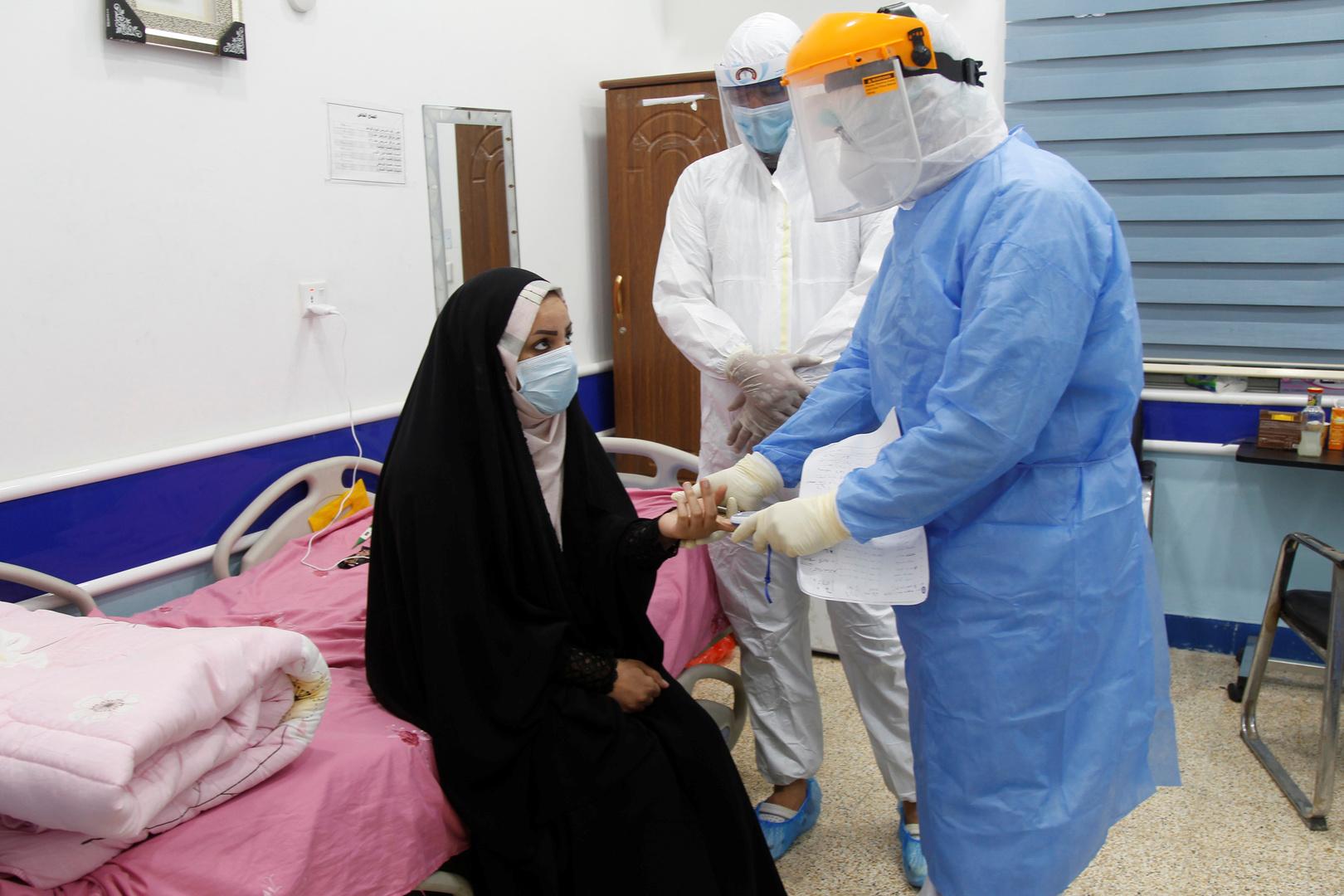 عراقية تتلقى العلاج في مستشفى في النجف